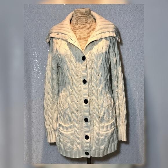Tommy Hilfiger Chunky Knit Cardigan Sweater Medium